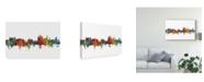 """Trademark Global Michael Tompsett Thun Switzerland Skyline II Canvas Art - 37"""" x 49"""""""