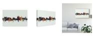 "Trademark Global Michael Tompsett Thun Switzerland Skyline IV Canvas Art - 20"" x 25"""