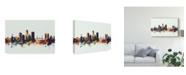 "Trademark Global Michael Tompsett Jacksonville Florida Skyline IV Canvas Art - 20"" x 25"""