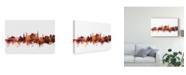 "Trademark Global Michael Tompsett Bournemouth England Skyline Red Canvas Art - 20"" x 25"""