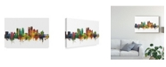 """Trademark Global Michael Tompsett Dayton Ohio Skyline II Canvas Art - 20"""" x 25"""""""