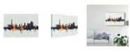 "Trademark Global Michael Tompsett Northampton England Skyline IV Canvas Art - 37"" x 49"""