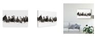 """Trademark Global Michael Tompsett Rio De Janeiro Skyline Brazil Black White Canvas Art - 37"""" x 49"""""""