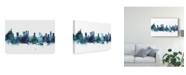 """Trademark Global Michael Tompsett Rio De Janeiro Skyline Brazil Blue Canvas Art - 20"""" x 25"""""""