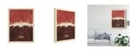 "Trademark Global Michael Tompsett Hamburg Germany Skyline Red II Canvas Art - 37"" x 49"""