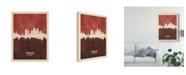 "Trademark Global Michael Tompsett Frankfurt Germany Skyline Red II Canvas Art - 20"" x 25"""