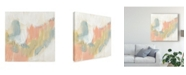"Trademark Global Jennifer Goldberger Stitched Pastels I Canvas Art - 20"" x 25"""