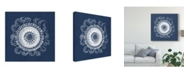 "Trademark Global Vision Studio Sea Anemone on Indigo IV Canvas Art - 20"" x 25"""