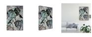 "Trademark Global Nan Rae Ua Ch Lotus Study with Blue Green II Canvas Art - 15"" x 20"""