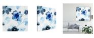 """Trademark Global June Erica Vess Blue Gossamer Garden I Canvas Art - 15"""" x 20"""""""