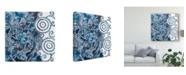 "Trademark Global Chariklia Zarris Cobalt Garden II Canvas Art - 27"" x 33"""