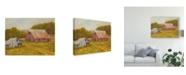 "Trademark Global Marilyn Wendling Country Barns Canvas Art - 20"" x 25"""