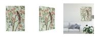 """Trademark Global Melissa Wang Delicate Chinoiserie III Canvas Art - 37"""" x 49"""""""