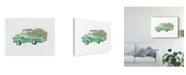"Trademark Global Catherine Mcguire Flower Truck II Canvas Art - 37"" x 49"""