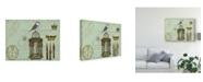 "Trademark Global Sandy Lloyd Postcards of Paris II Canvas Art - 37"" x 49"""