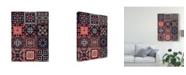 "Trademark Global Victoria Borges Kaleidoscope Tile IV Canvas Art - 37"" x 49"""