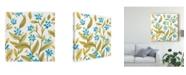 "Trademark Global June Erica Vess Abbey Floral Tiles IV Canvas Art - 15"" x 20"""
