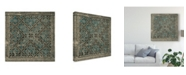 "Trademark Global Vision Studio Block Print Textile II Canvas Art - 15"" x 20"""