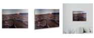 "Trademark Global Pierre Leclerc Badwater Sunset Floating Brushed Aluminum Art - 22"" x 25"""