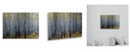 "Trademark Global Pierre Leclerc Forest of Aspen Trees Floating Brushed Aluminum Art - 22"" x 25"""