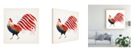 """Trademark Global Victoria Borges Rooster Fireworks I Canvas Art - 27"""" x 33"""""""