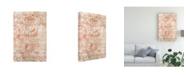 "Trademark Global June Erica Vess Garnet Weft IV Canvas Art - 37"" x 49"""