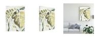 "Trademark Global June Erica Vess Batik Leaves II Canvas Art - 37"" x 49"""