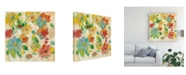 "Trademark Global Silvia Vassileva Playful Floral Trio II Canvas Art - 15"" x 20"""