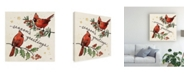 """Trademark Global Janelle Penner Christmas Lovebirds X Canvas Art - 27"""" x 33"""""""