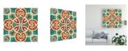 "Trademark Global Veronique Charron Folk Floral 6 Canvas Art - 15"" x 20"""