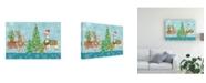 """Trademark Global Mary Urban Lovely Llamas Christmas VIII Canvas Art - 37"""" x 49"""""""
