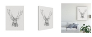 "Trademark Global Ethan Harper Contemporary Elk Sketch II Canvas Art - 37"" x 49"""