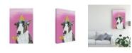 "Trademark Global Victoria Coleman Party Dog II Canvas Art - 20"" x 25"""