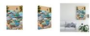 "Trademark Global Sally Linden Umbrellas II Canvas Art - 20"" x 25"""