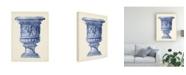 "Trademark Global Vision Studio Palace Urns in Indigo III Canvas Art - 20"" x 25"""