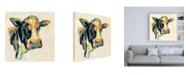 "Trademark Global Silvia Vassileva Expressionistic Cow I Canvas Art - 15.5"" x 21"""