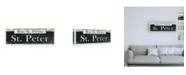 "Trademark Global Wild Apple Portfolio French Quarter Sign III Canvas Art - 15.5"" x 21"""