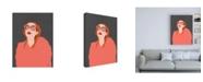 "Trademark Global Megan Galante Orange Fur Canvas Art - 15.5"" x 21"""