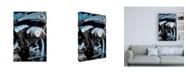 "Trademark Global Roderick Stevens Sunset & Motorcycle Canvas Art - 27"" x 33.5"""