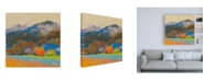 "Trademark Global Mike Kell Fox Farm Woods 3 Canvas Art - 19.5"" x 26"""