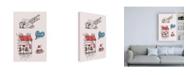 "Trademark Global TypeLike Paris II Collage Canvas Art - 27"" x 33.5"""