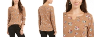 Style & Co Petite Printed Cotton Thermal Top, Created for Macy's