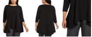 Alfani Plus Size Handkerchief-Hem Top, Created for Macy's