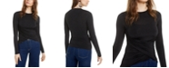 Bar III Ruched Crossover Top, Created for Macy's