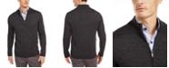 Tasso Elba Men's Solid Full-Zip Mock-Neck Merino Sweater, Created for Macy's