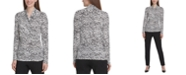 DKNY Animal Print Side-Ruched Top