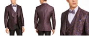 Tallia Men's Purple Floral Suit Separates