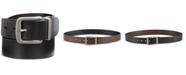 Perry Ellis Men's Cut-Edge Reversible Leather Belt