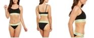 Calvin Klein Women's Logo Unlined Bralette & High-Cut Bikini