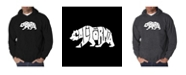 LA Pop Art Men's Word Art Hooded Sweatshirt - California Bear